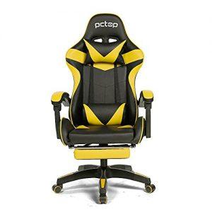cadeira gamer amarela