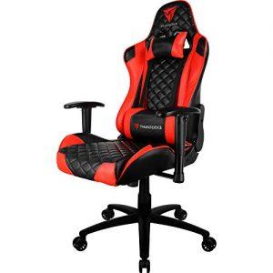 cadeira gamer vermelha e preta