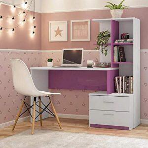 escrivaninha rosa
